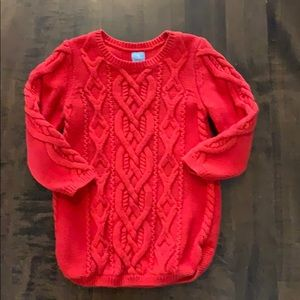 Gap cable knit tunic length sweater